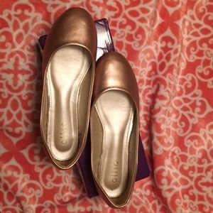 Ollio  rose gold ballet flats size 8